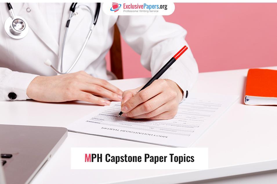 MPH Capstone Paper Topics