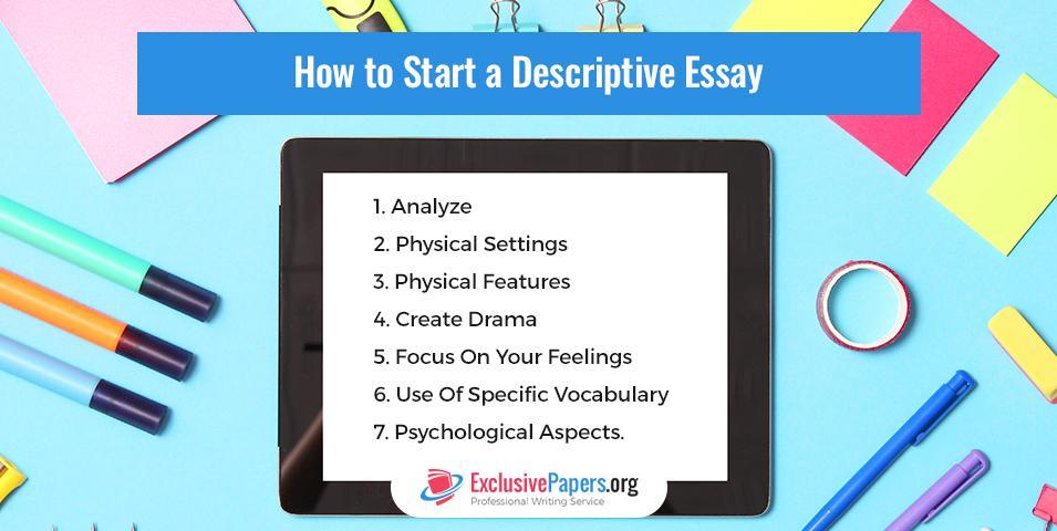 How to Start a Descriptive Essay Properly